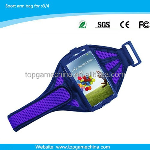 pvc phone waterproof case for amsung galaxy S3/S4 arm pouch