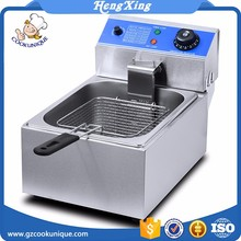 Hot sale industrial churro commercial stainless steel electric potatochips fish deep chip fryer basket machine used price