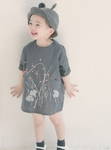 New trend style fashion kids nice flower dress alibaba supplier wholesale fashion small girls dresses