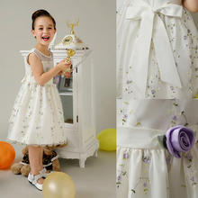 Newest <strong>Girl's</strong> Romantic Angel Pure White Flower Sleeveless Bubble Princess girls <strong>Dress</strong>
