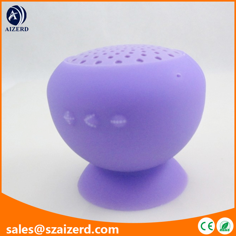 Purple Mini Ultra Portable Waterproof Bluetooth Wireless Stereo Speakers with Suction Cup for Showers