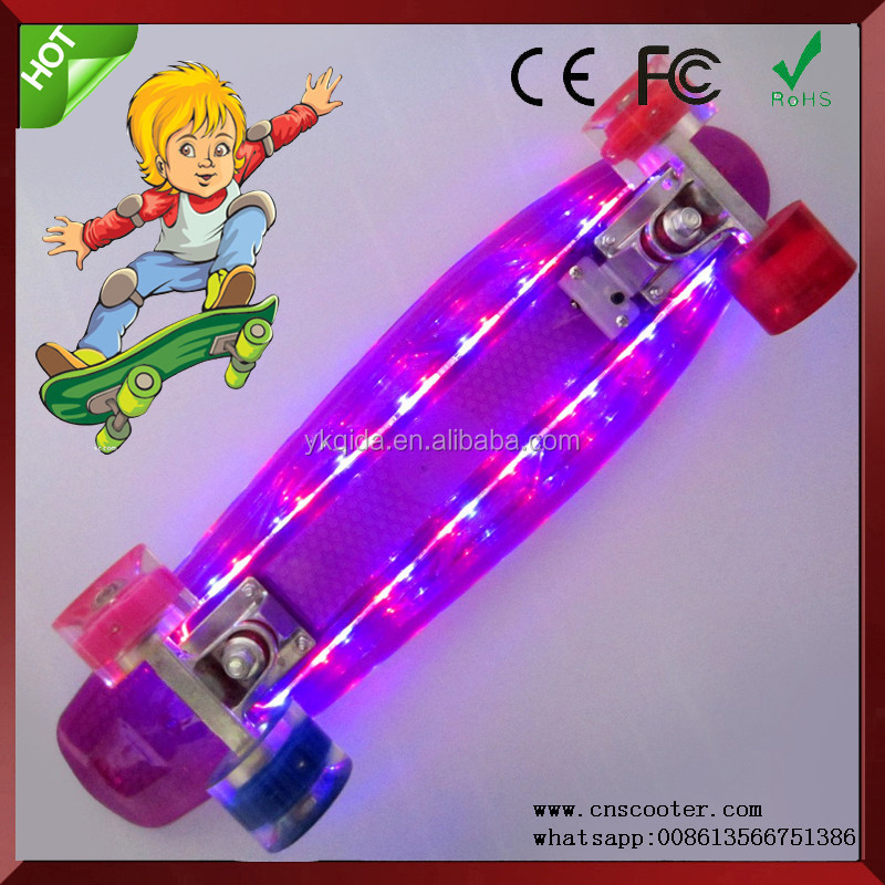 whosale led lighting electric skateboard for sale