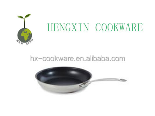 tri-ply stainless steel ceramic coating frying pan