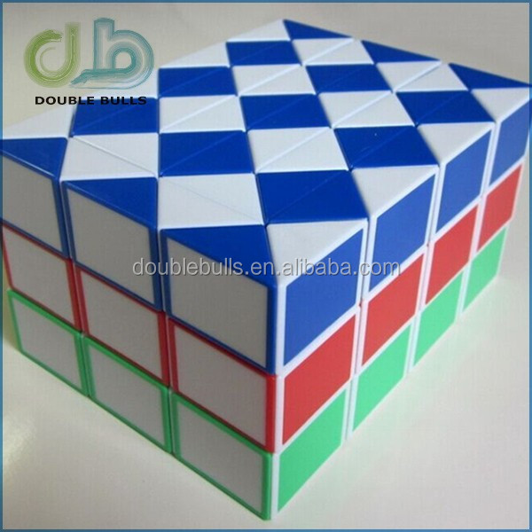 Magic promotional puzzle cube , Magic Snake ,15 Inch Magic Ruler Twist Puzzle Green / white