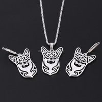 Hot Fashion Pomeranian Dog Necklace Alloy