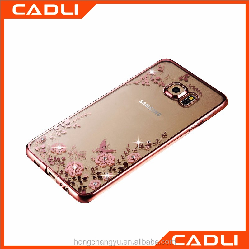 Wholesale flower clear TPU sublimation phone case for iPhone 6s