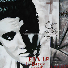 portrait of Elvis canvas oil painting