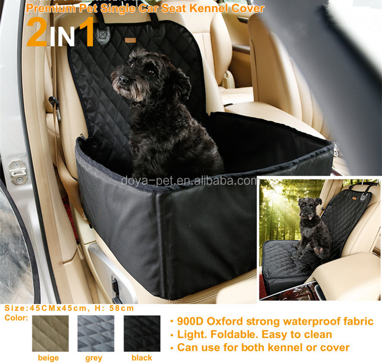 2016 Alibaba Top Sale Fleece Padded waterproof oxford cloth Pet Carrier Dog Luxury Car Seat in factory price