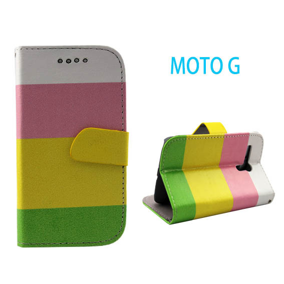cheap mobile phone case wallet leather case cover for motorola moto g