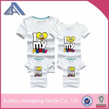 2014 fashionable latest design t-shirts printing custom wholesale funny t-shirts cute lovely family couple t-shirts