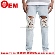 Rhr nueva washed agujero diseño trapos ripped jeans vaquero hombres jeans