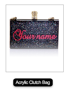 High-quality customize name bag 100% handmade rhinestone clutch