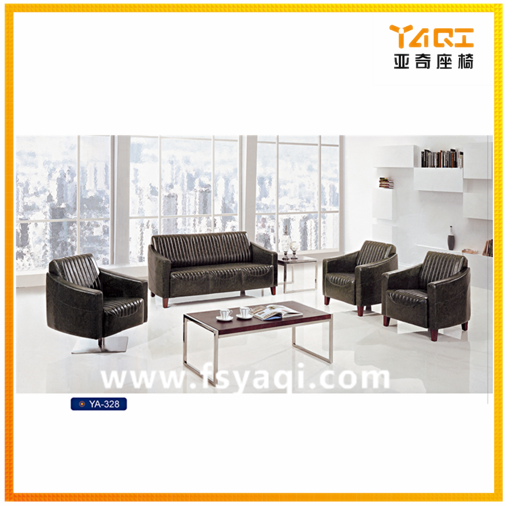 Good design leather office living room sectional sofa YA-328
