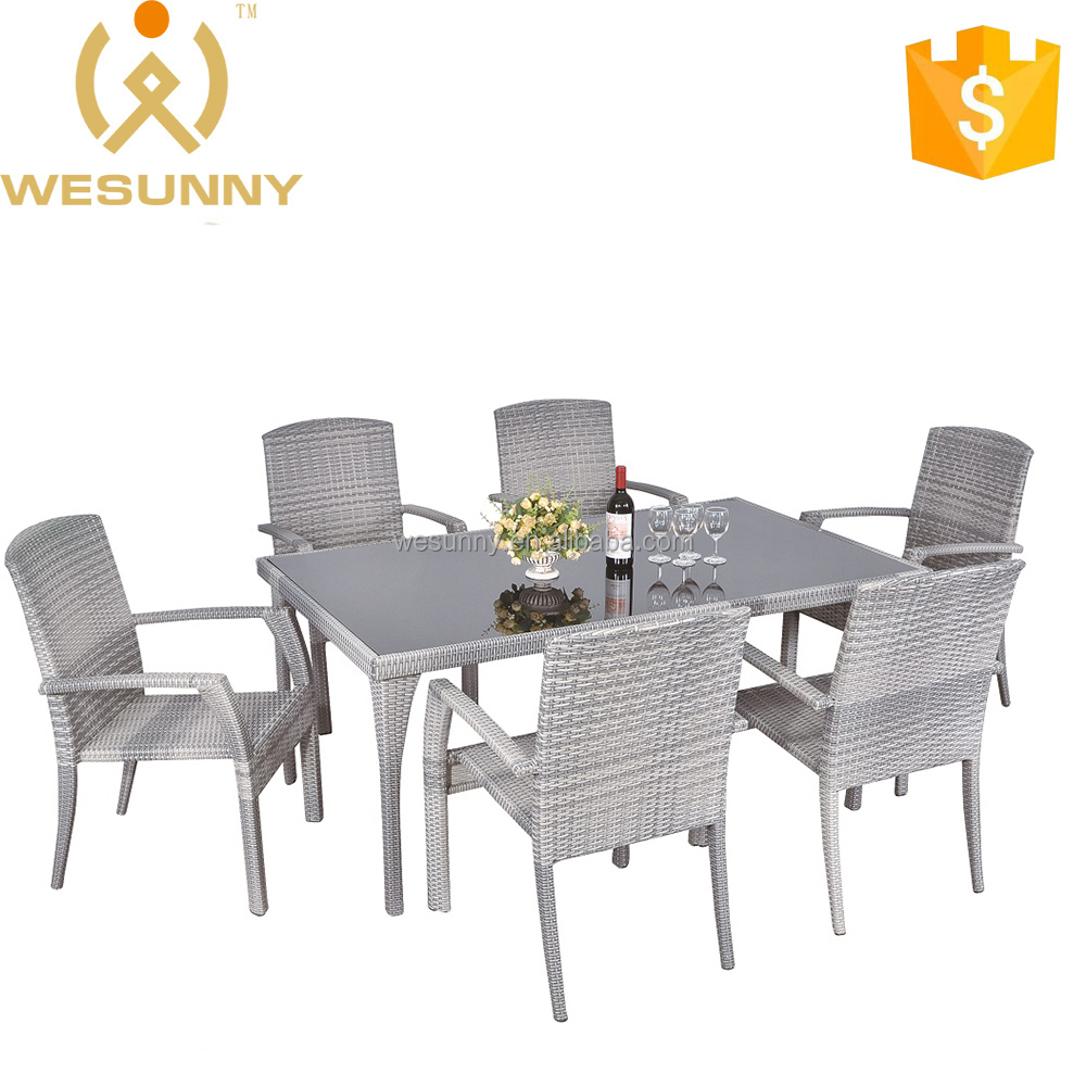 Chinese modern design outdoor furniture Dining Set