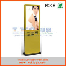 LKS Big Touch Screen Info Kiosk Terminal With Ticket Printer Info Screen