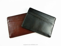 Large Capacity Durable Credit Card Holder Universal Business Leather Card Holder with 5 Card Slots