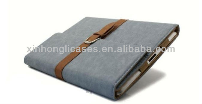 new arrival Top quality portfolio leather cover for ipad 2/3