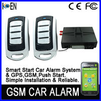 Push Start GPS GSM Car Alarm System, Car Alarm That Calles Cell Phone