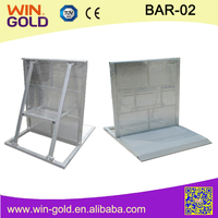 Aluminium barriers dolly,corner event crowd barriers,outdoor barriers