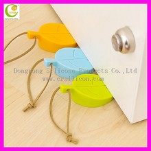 Cute new leaf shape silicone door stopper rubber car door stopper silicone rubber door stopper