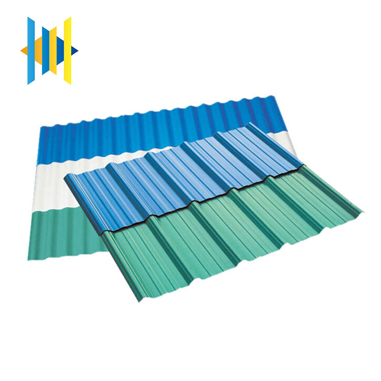 best sell building materials certificated insulated blue ridge color coated corrugated plastic pvc roof sheet
