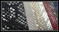 Spraying pvc leather lizards pattern embossed pvc leather for hangbags