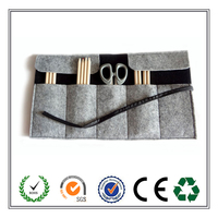 Alibaba Wholesale Practical Roll Up Felt Pen Pouch From China