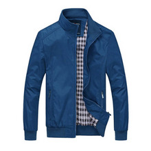 Business Casual Collar Outwear High Quality Solid Color clothes men jacket