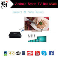 Original factory android MXIII 2GB RAM 8GB ROM ott tv box support wifi and bluetooth