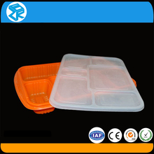 Innovation design plastic display clamshell box disposable lunch container