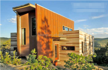 enviromental friendly anticorrosive comfortable lux container homes/prefabricated glass house