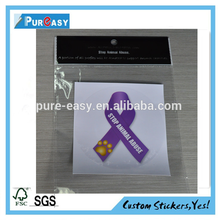 Printing vinyl static cling window decal