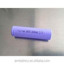 3.7v 2600mAh 18650 Li-ion battery/18650 lithium rechargeable battery cell