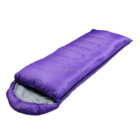 Customized wholesale 170T Hollow cotton fabric warm weather envelope hooded sleeping bag for outdoor camping