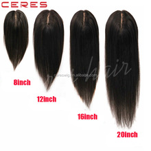 Natural looking Factory cheap price Mono Top hair pieces add clips virgin human hair toupee for women