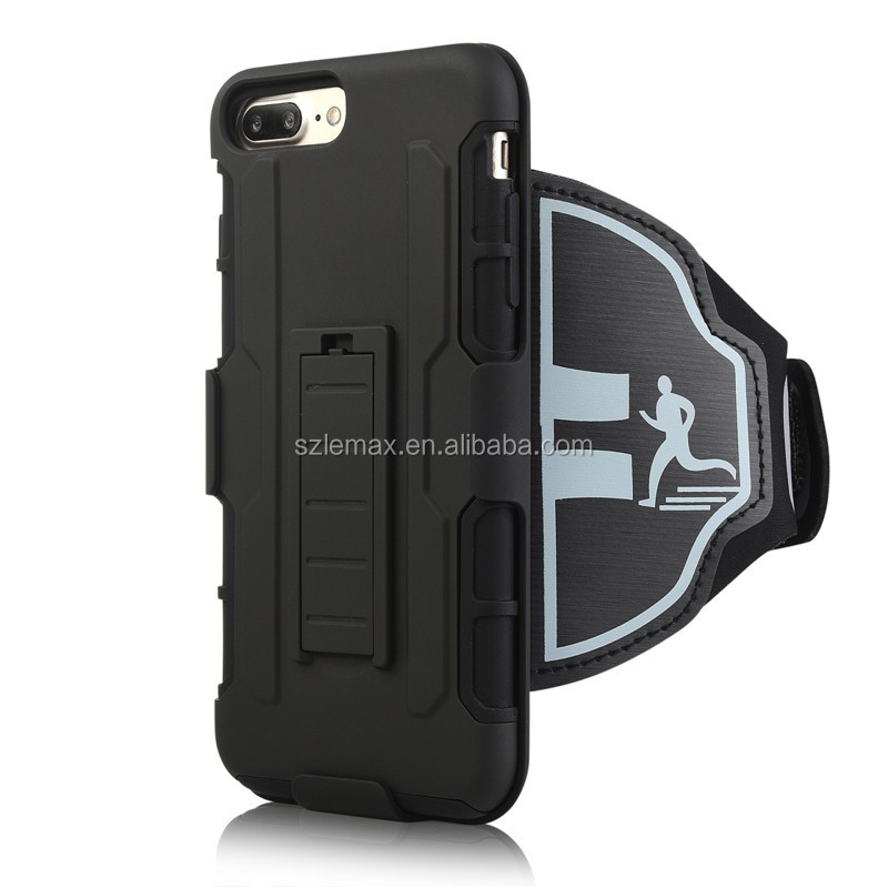 New Style Robot Armor Sport Armband Dual Layer Armor Case for iPhone 7 iPhone 7 Plus 4.7/5.5 Inch