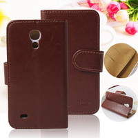 Mix colors wallet flip leather pouch for samsung galaxy s4 mini case