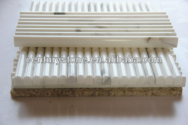 Oriental White Marble Liner Bathroom Tile Marble Trim
