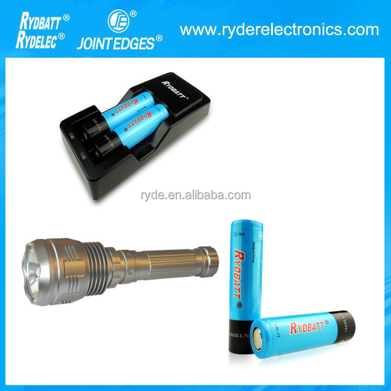 OEM Custom Factory Supply 1*18650 Lithium Battery Used Bright Light Best Rechargeable police flashlight shock torch