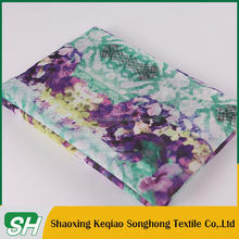 Famous Brand 100 polyester woven 190T printed taffeta fabric for garment