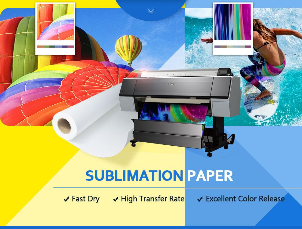 Koala sublimation transfer paper, premium 100g fast dry dye sublimation paper roll