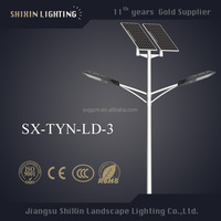 Street solar light pole and 100w round led flat light