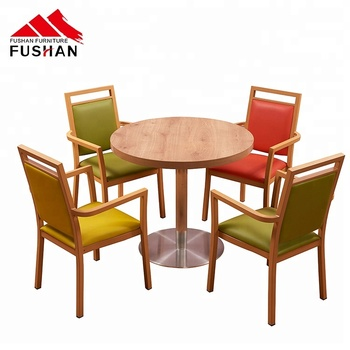 Hot sale modern cafe furniture dining table and chairs used dining chair for restaurant