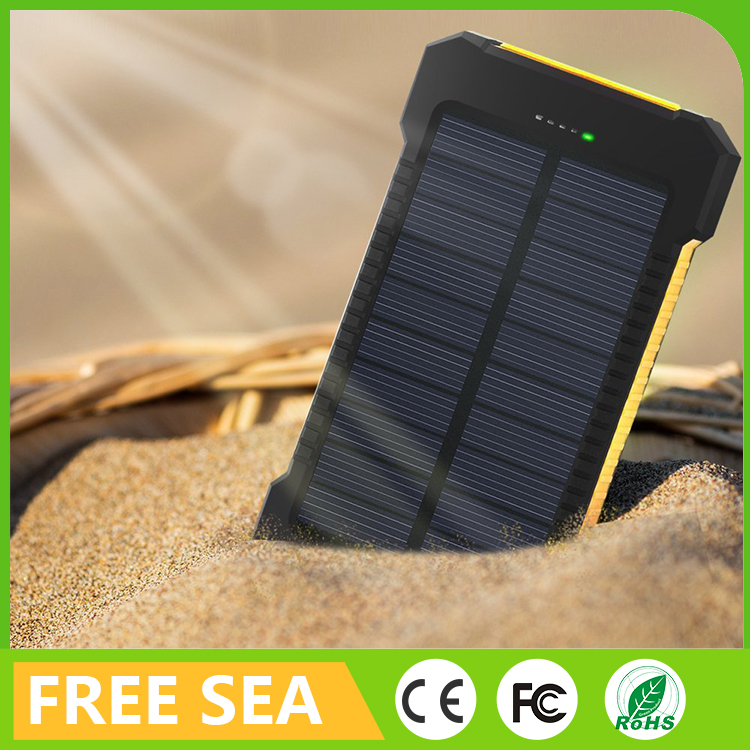 Portable Solar Power Bank 12000mAh Outdoor Camping LED Light External Battery Charger
