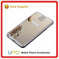 [UPO] New Design Transparent Soft TPU Bumper Mirror PC Cover Mobile Phone Case for Samsung Galaxy Note 5