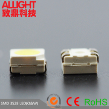 New products on china market double color 3528 smd leds orange white bi-color