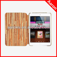 New arrival High Quality Wood Pattern leather Case for ipad mini 2