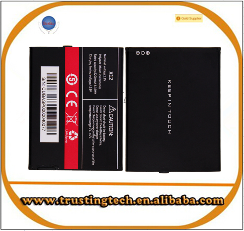 compatible with for Cubot <strong>X12</strong> Battery 2200mAh MTK6735 Phone Android 5.1 4G FDD LTE 5.0 Batterie Bateria AKKU Accumulator