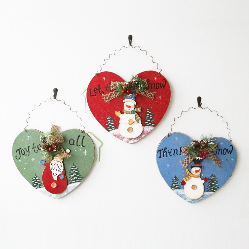 christmas heart shaped wall hanging picture