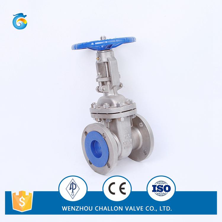 Stainless steel industrial rising stem handwheel gate valve